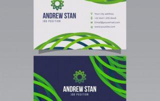 modern business card 320x202 - دانلود کارت ویزیت مدرن با طرح انتزاعی