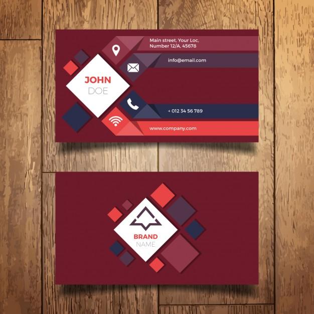 دانلود کارت ویزیت تجاری با رنگ قرمز
