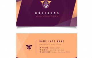 modern business card template 1 320x202 - دانلود کارت ویزیت با اشکال هندسی و رنگ تیره