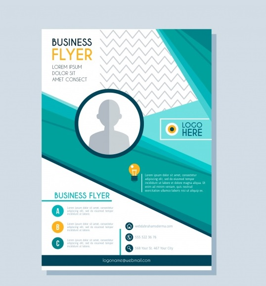 modern business flyer design - دانلود تراکت مدرن با رنگ آبی