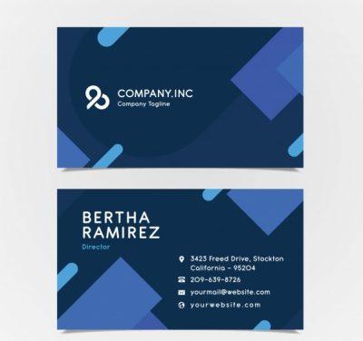 modern geometric business card template 23 2147949472 - دانلود کارت ویزیت طرح هندسی مدرن برای کسب و کار تجاری