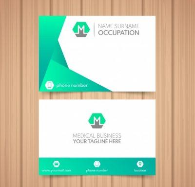 modern professional business card - دانلود کارت ویزیت مدرن و حرفه ای برای بیمارستان و یا دکتر