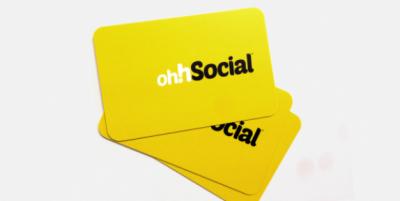 ohh social round corner business cards header - 7 نکته در طراحی و چاپ کارت ویزیت شخصی مناسب