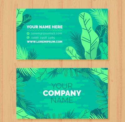 professional business card with nature - دانلود کارت ویزیت کسب و کار با طراحی طبیعت
