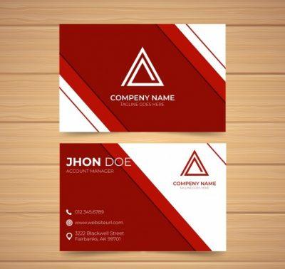 professional business1 - دانلود کارت ویزیت تجاری حرفه ای با اشکال انتزاعی