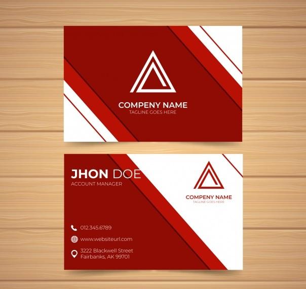 دانلود کارت ویزیت تجاری حرفه ای با اشکال انتزاعی
