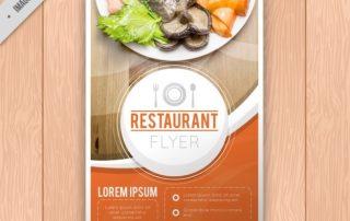 restaurant brochure template 23 2147589232 320x202 - دانلود تراکت رستوران بصورت رایگان