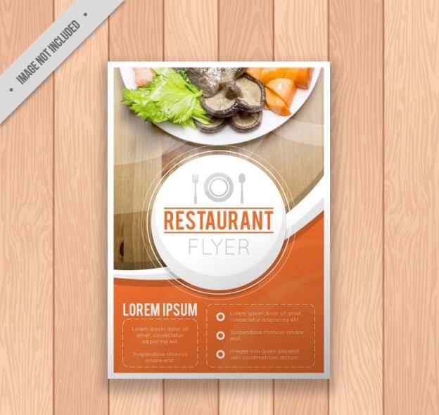 restaurant brochure template 23 2147589232 - دانلود تراکت رستوران بصورت رایگان