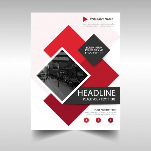دانلود تراکت مدرن تجاری برای گزارش سالیانه با رنگ قرمز