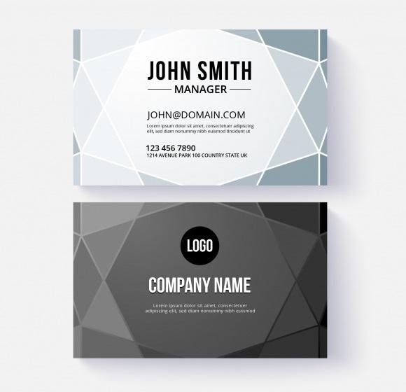 دانلود کارت ویزیت کسب و کار تجاری با اشکال هندسی