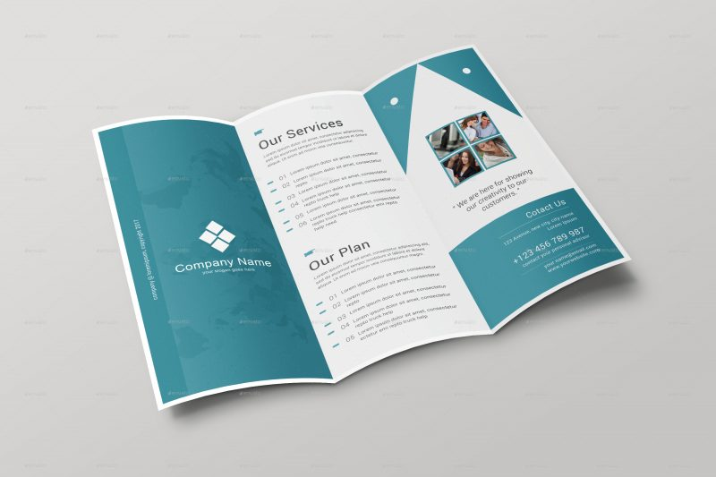 Tri Fold Brochure Mock up Template Inside - نکات طلایی در مورد طراحی بروشور تبلیغاتی
