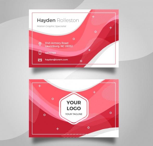 دانلود کارت ویزیت تجاری با رنگ سفید و قرمز