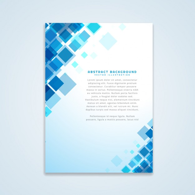 abstract br - دانلود تراکت با طرح انتزاعی و رنگ آبی