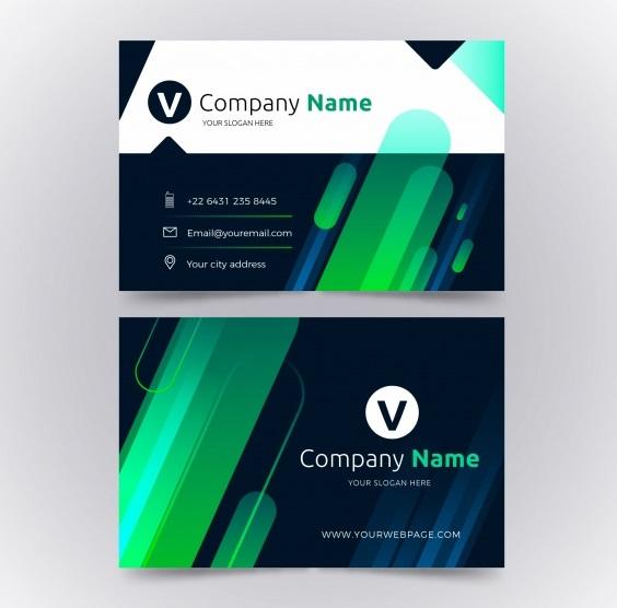دانلود کارت ویزیت انتزاعی با رنگ سبز
