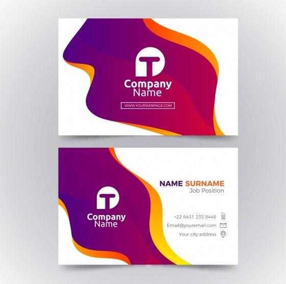 دانلود کارت ویزیت کسب و کار تجاری با اشکال انتزاعی زیبا