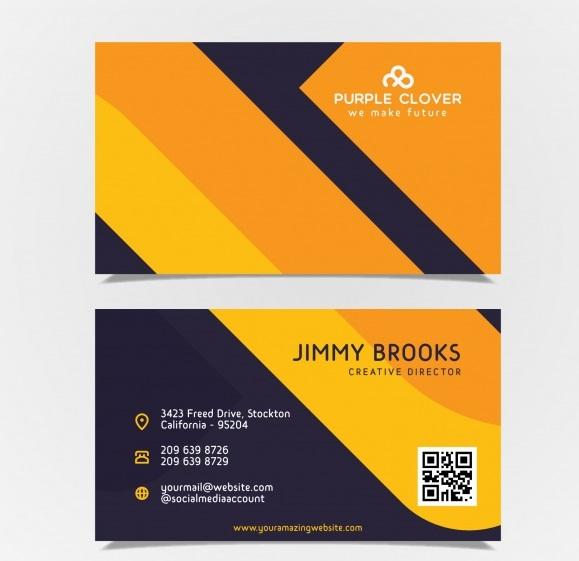 دانلود کارت ویزیت با رنگ زرد و مشکی