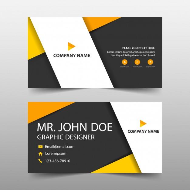 دانلود کارت ویزیت تجاری با رنگ نارنجی و شیک