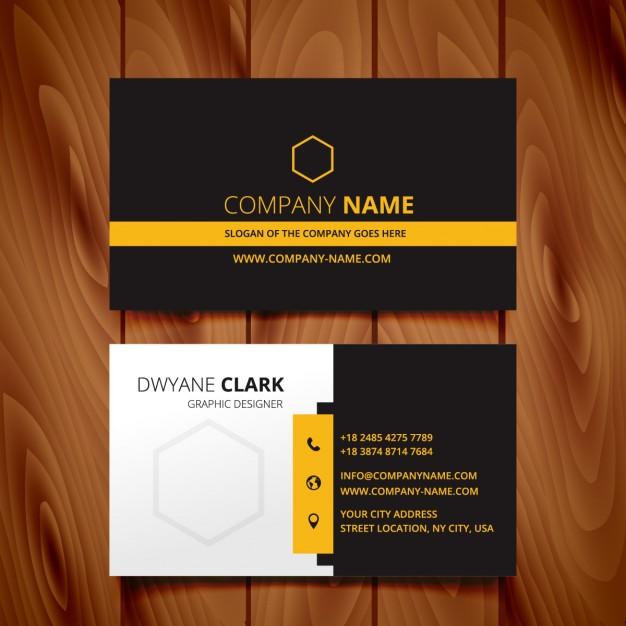 دانلود کارت ویزیت تجاری با طراحی مدرن و رنگ مشکی