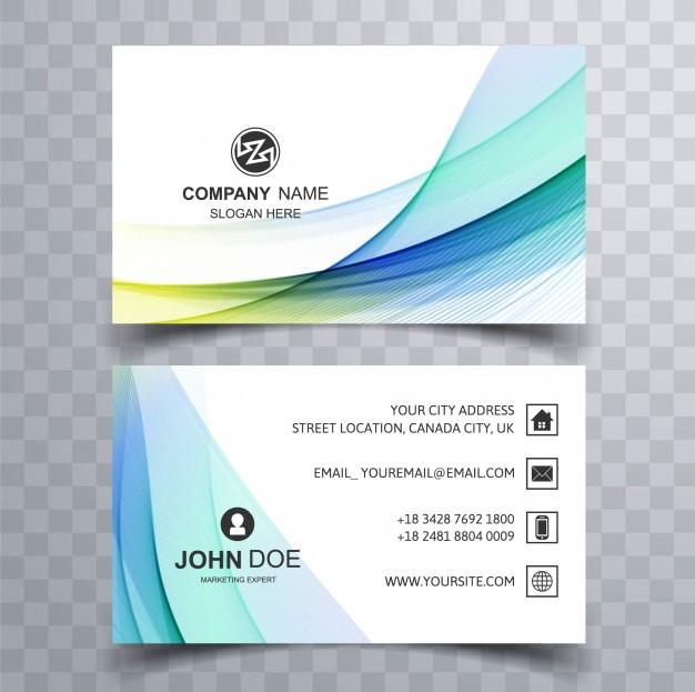 دانلود کارت ویزیت کسب و کار مدرن تجاری سفید و آبی