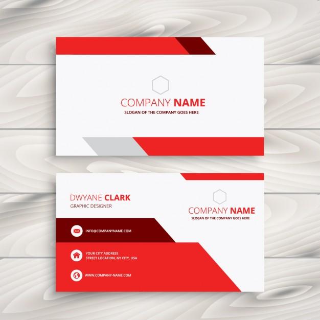 red and white modern business - دانلود کارت ویزیت کسب و کار تجاری مدرن با رنگ سفید و قرمز