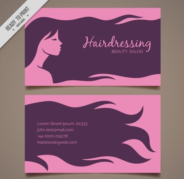 دانلود کارت ویزیت آرایشگاه زنانه
