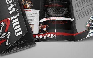 One Way Speed Trifold Brochure Mockup 320x202 - در طراحی بروشورها باید چه نکاتی را رعایت کرد؟