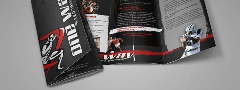 One Way Speed Trifold Brochure Mockup - در طراحی بروشورها باید چه نکاتی را رعایت کرد؟