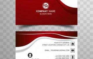 abstr3 320x202 - دانلود کارت ویزیت شرکتی با رنگ قرمز و سفید