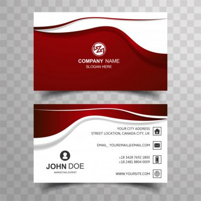 abstr3 - دانلود کارت ویزیت شرکتی با رنگ قرمز و سفید