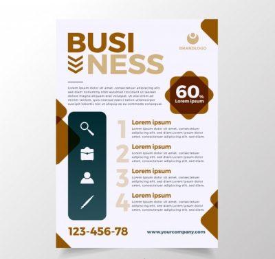 busi1 - دانلود تراکت تجاری با رنگ سفید قهوه ای