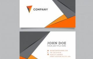 m845 320x202 - دانلود کارت ویزیت شرکتی در رنگ خاکستری و نارنجی