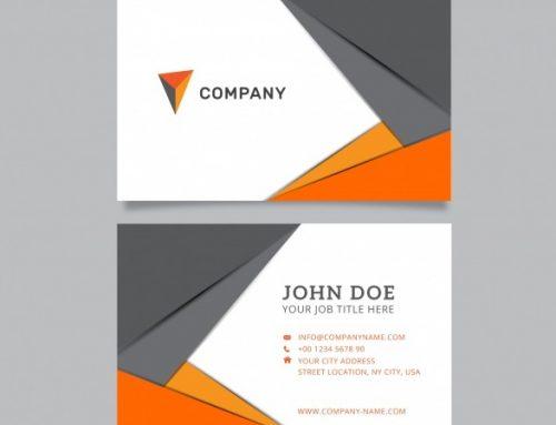 دانلود کارت ویزیت شرکتی در رنگ خاکستری و نارنجی