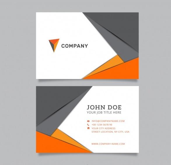 m845 - دانلود کارت ویزیت شرکتی در رنگ خاکستری و نارنجی