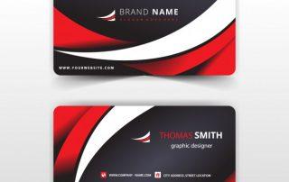 red8 320x202 - دانلود کارت ویزیت قرمز و مشکی با طرح تجاری