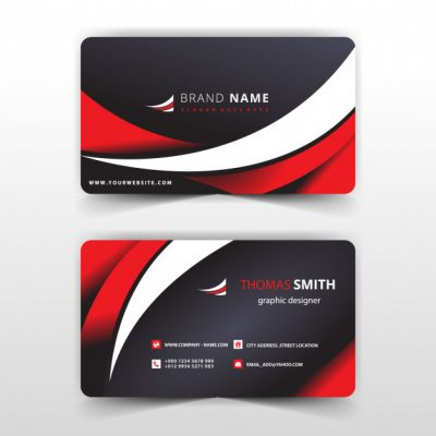 red8 - دانلود کارت ویزیت قرمز و مشکی با طرح تجاری