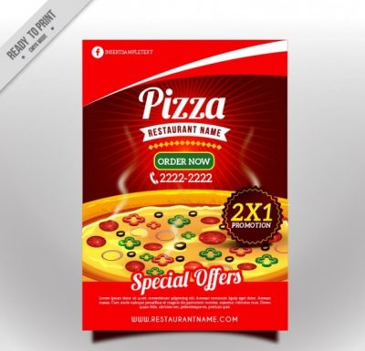 tast4 - دانلود تراکت پیتزا با طراحی جذاب