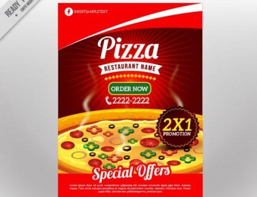 دانلود تراکت پیتزا با طراحی جذاب